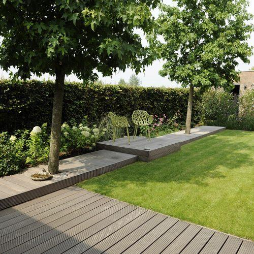 Vlonder, het hout geeft uw tuin een warme uitstraling