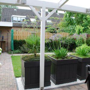 tuinvoorbeelden kleine achtertuin