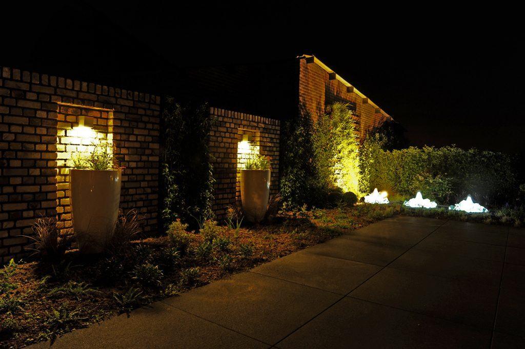 tuinvoorbeelden verlichte tuin